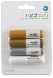 Sketch Pen Metallic Pack, Set of 4