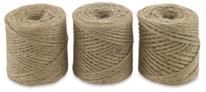 Jute Twine Tubes, (L to R) 2 Ply, 3 Ply and 4 Ply