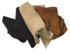 Left to Right: Black, Beige, and Medium Brown Suede Trim