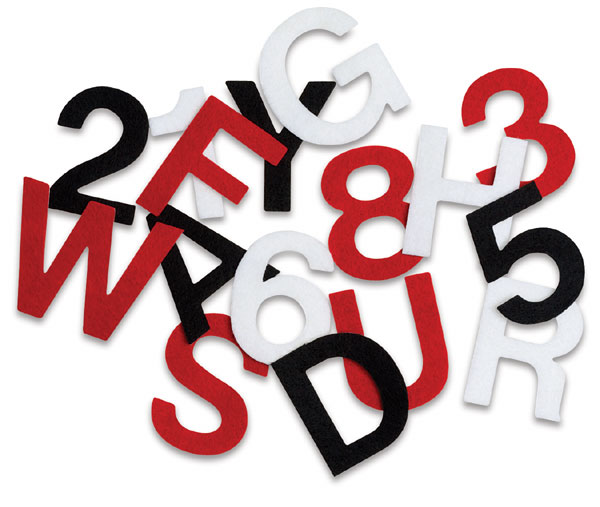 Stick-It Felt Letters and Numbers - BLICK art materials