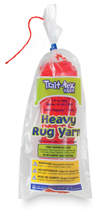 Heavy Polyester Rug Yarn, Red