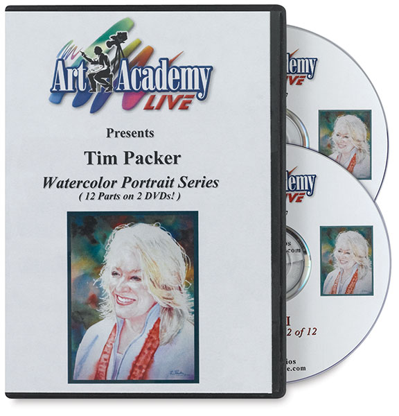 Watercolor Portrait Series by Tim Packer 2-DVD Set